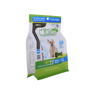 Semitransparent flat bottom pouch for Pet food
