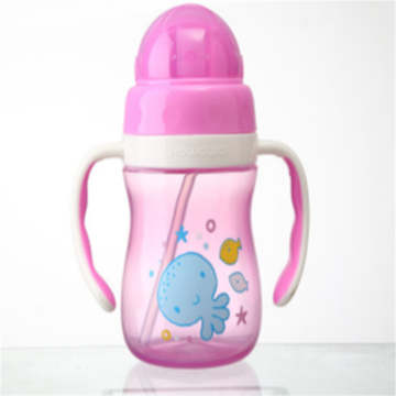 Infant Water Drinking Bottle Baby Straw Cup