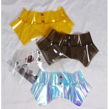 2021 spring summer women fashion designer plastic PVC clear belt ruffles asymmetric peplum belts corset sexy club