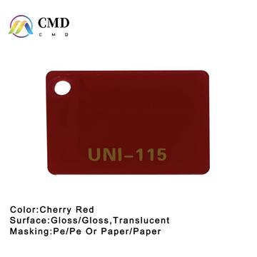 Cast Acrylic Cherry Red Perspex Sheets