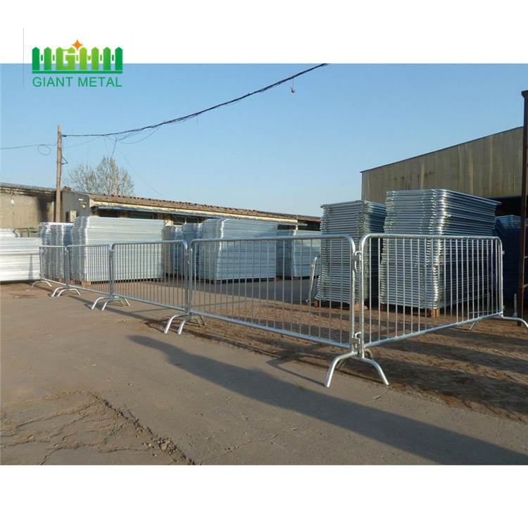 Metal crowd control safety barriers