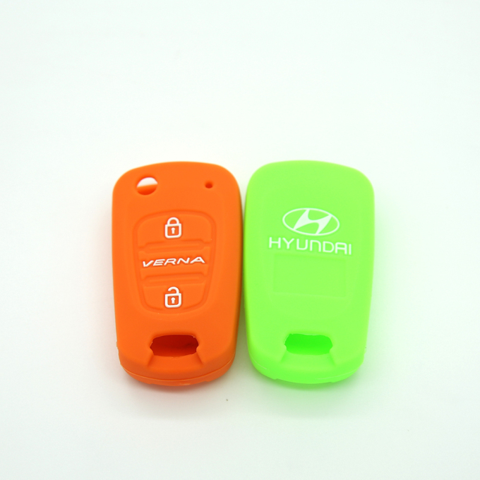 Silicone Embossed Car Key Case Cover