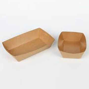 Disposable paper box for fast food packaging