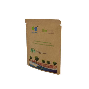 Digital print cellophane PLA kraft paper seal small bag