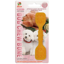 "Percell 4.5"" Dura Chew Toy Dumbbell Roasted Chicken Scent"