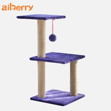 Aiberry Deluxe Wooden Cat Scratch Board Pet Tower