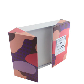Customized Makeup Brush Set Printed Folding Paper Box
