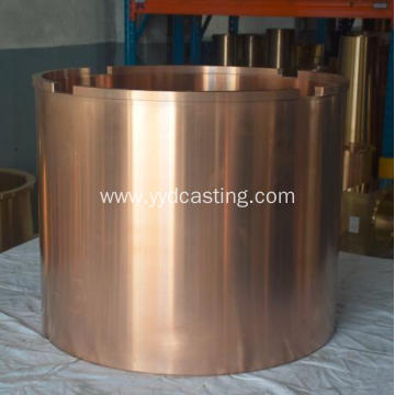 Centrifugal bronze bushing for crusher