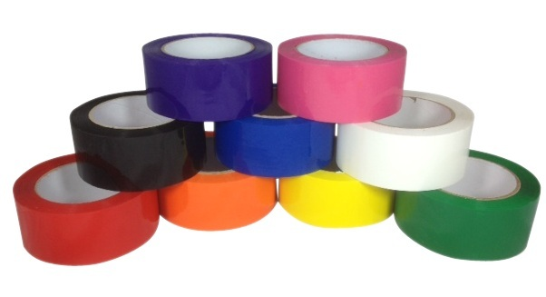 Black Blue Red Orange Purple Pink Yellow White Green Packing Tape