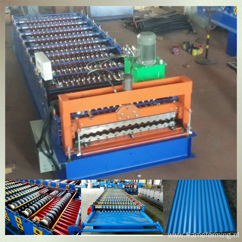 color steel roof corrugated machine