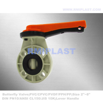Butterfly Valve PPH Wafer Type PN10