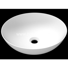 Matte stone solid surface modern sink