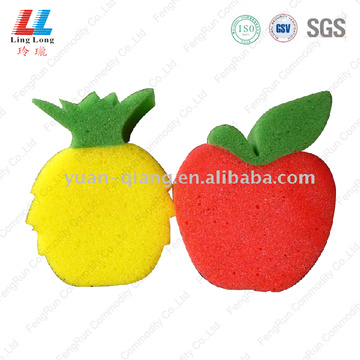 Fruit shape smooth bath sponge