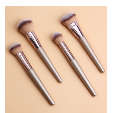 Customize Kabuki Champagne Gold Makeup Brush Set