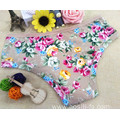 2016 China wholesale bamboo fiber high elastic fat women khaki eco-friendly panty little printed flowers underwear 101