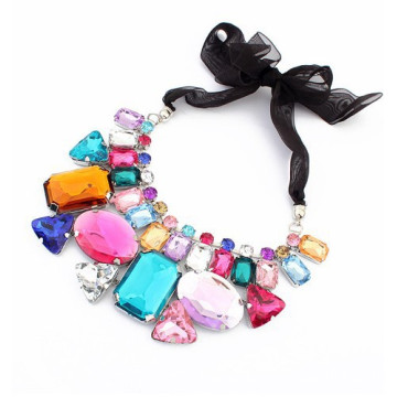 Luxurious Crystal Collar Choker Vintage Statement Necklace