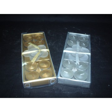 Metallic Aluminum Cups Colored Tea Lights