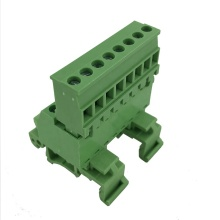 8pin plug-in 35mm din rail mounting terminal block