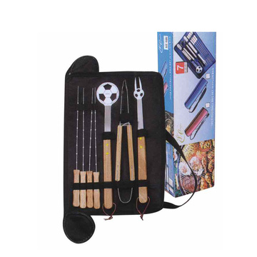 Set of 7pcs BBQ Tools with soccer shape