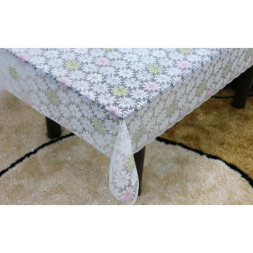 Printed pvc lace tablecloth by roll safe