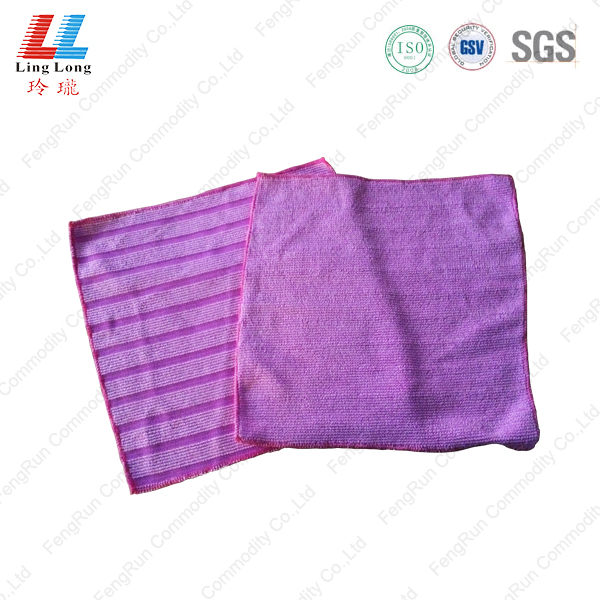 Stripe microfiber washing cloth