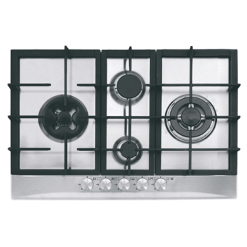 Stainless 4-Burner Gas Hob Built-in