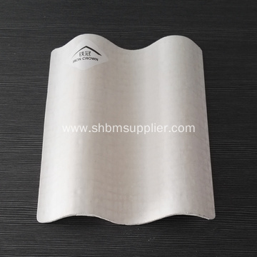 White Beige Glazed Corrugated MgO Roofing Sheet
