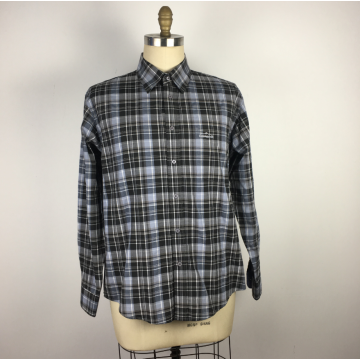 men's plaid Mesh long sleeves shirts