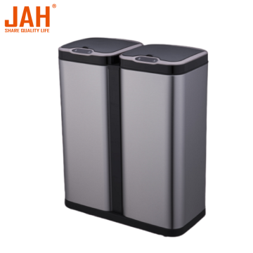 JAH Large Capacity 430 Stainless Steel Sensor Dustbin