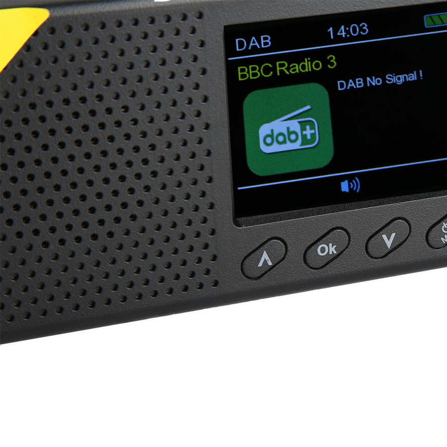 Portable Bluetooth Digital Radio DAB/DAB+ and FM Receiver 2.4 inch LCD Display Screen Rechargeable Lightweight Home Radio