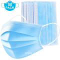 Blue White Pink Colored Melt-blown Nonwoven 3ply Facemask