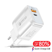 18W Quick Charge 3.0 USB Charger EU Wall Mobile Phone Charger Adapter for iPhone X MAX 7 8 QC3.0 Fast Charger for Samsung Xiaomi
