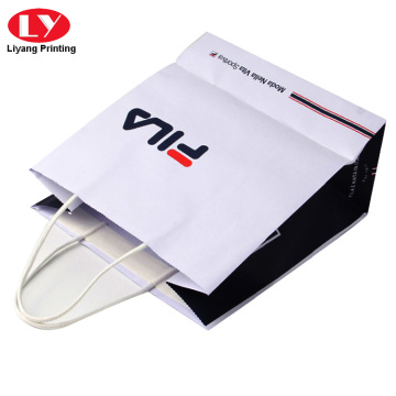 White Craft paper shopping bag with cotton rope