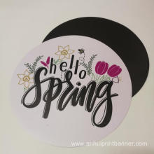 Advertising round shaped magnet custom print sticker
