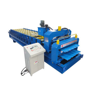Double Deck Glazed Metal Roll Forming Machine