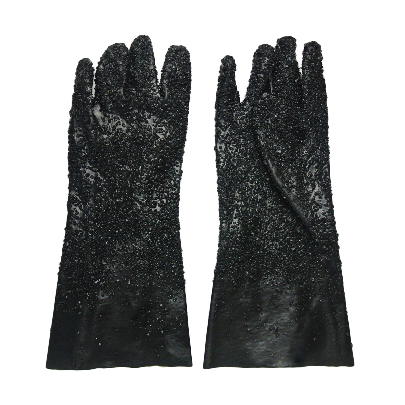 Chemical resistant pvc dipped gloves