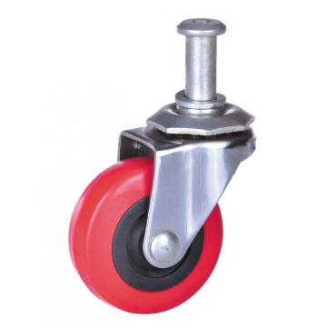 50mm PVC screw swivel caster