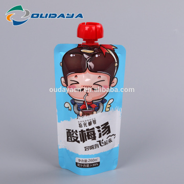 Pouch Food Packaging Special Shape plum soup packaging