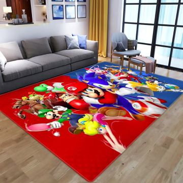 3D Cartoon Anime Super Mario printing Carpets for Living Room Bedroom Large Area Carpet Kids play Floor Mats Child Game Big Rugs