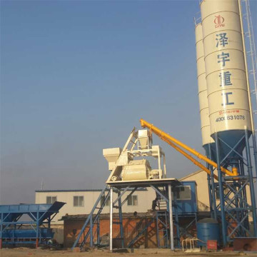 HZS25 cheap hopper lift small concrete batching plant