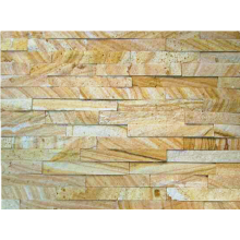 15×60cm Natural Golden Sandstone Stone Wall Cladding