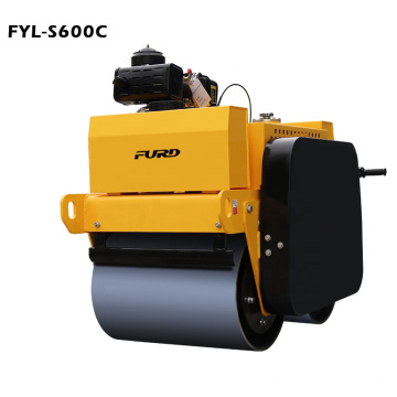 Factory Quality Walk Behind Vibrating Compactor Roller With Diesel Power