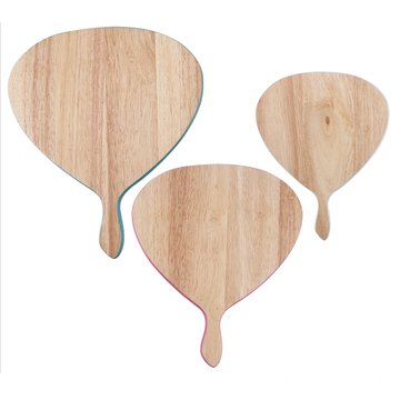 Fanshaped cutting board set with hanlde