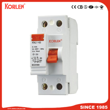 Residual Current Circuit Breaker KNL1-100 100A SEMKO 4P