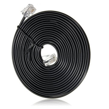 RJ11 6P4C Telephone Cable Cord ADSL Modem 3 Meters