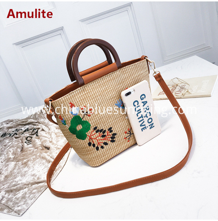 Fashion straw handbag