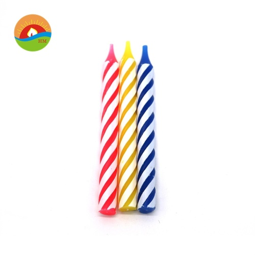 Wholesale spiral pillar candle for birthday
