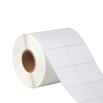 Self adhesive blank thermal transfer printed label roll