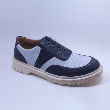 Fashion Leather TPR Outsole Men's Shoes