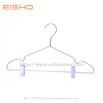 Aluminum Clothes Hanger With Clips AL011